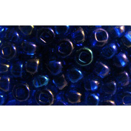 Čekiškas biseris 6/0 (4,1 mm) dydžio, mėlynos spalvos, AB danga, apvalios formos 50g