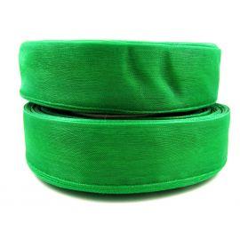 Organzos juostelė, ryškios žalios spalvos, 25 mm pločio