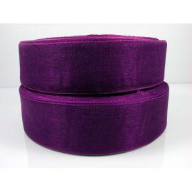 Organzos juostelė, violetinės spalvos, 25 mm pločio, 1 metras
