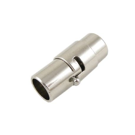 Magnetinis vėrinio užsegimas, tamsios sidabro spalvos, 17x7 mm, 1 vnt.