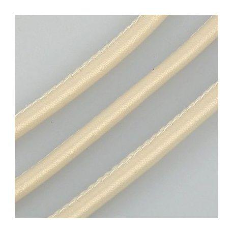 Dirbtinės odos virvelė, smėlio spalvos, storis apie 4.00 mm