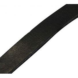 Natūralios odos dirželis, juodos spalvos, 7x2 mm, 1 m