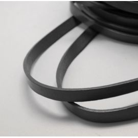 Natūralios odos dirželis, juodos spalvos, 10x2.5 mm, 1 m