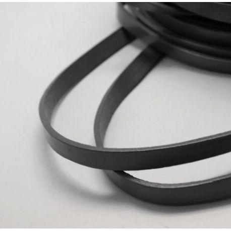 Natūralios odos dirželis, juodos spalvos, plotis 10 mm, storis 2.5 mm, 1 metras