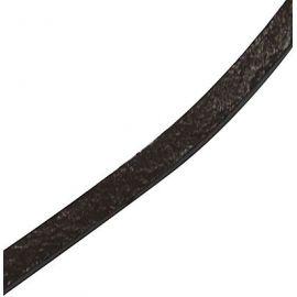 Natūralios odos dirželis, rudos spalvos, dvipusis, 3x1.5 mm, 1 m