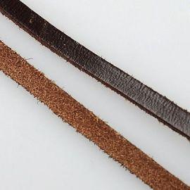 Natūralios odos dirželis 5x2 mm, 1 m