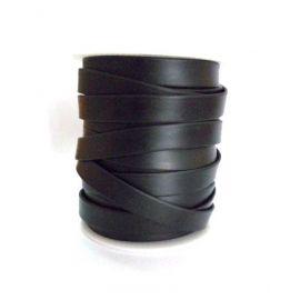 Sintetinio kaučiuko dirželis, juodos spalvos, dvipusis, plotis 6mm, storis 1.8 mm, 1 metras