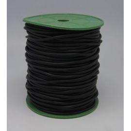 Sintetinio kaučiuko virvutė, juodos spalvos, tuščiavidūrė, storis 4.00 mm, 1 metras
