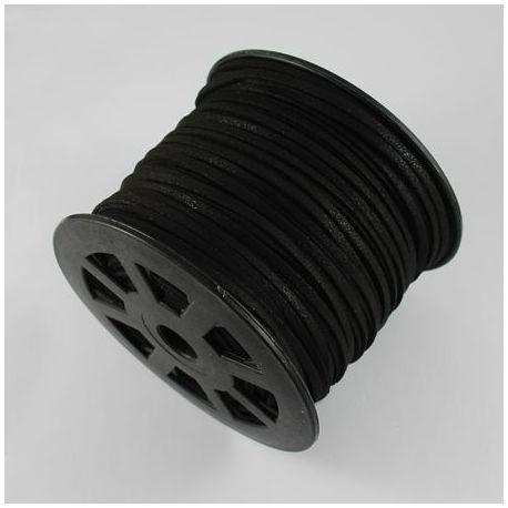 Zomšinė juostelė skirta papuošalų, rankdarbių gamyboje, juodos spalvos 3.00 mm pločio 1 metras