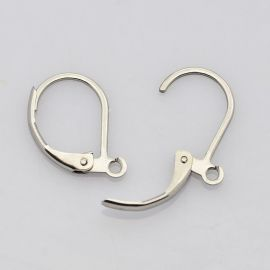 Nerūdijančio plieno kabliukai auskarams 14x12 mm, 1 pora
