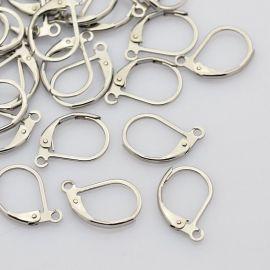 Nerūdijančio plieno kabliukai auskarams 15x10 mm, 2 poros