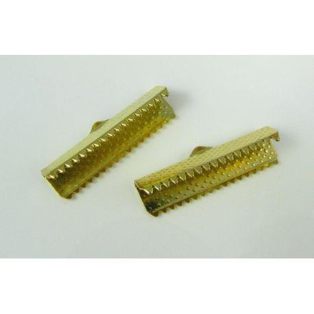 Juostelių užspaudėjas, aukso spalvos,dydis 25x6 mm, 1 vnt