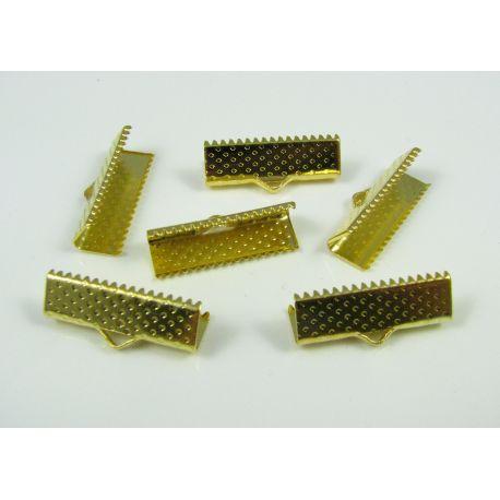 Juostelių užspaudėjas, aukso spalvos, dydis 20x6 mm, 1 vnt