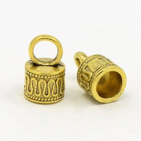 Užbaigimo detalė skirta vėriniams, apyrankėms, paruošalams, sendintos aukso spalvos, 14x9 mm, 1 vnt.