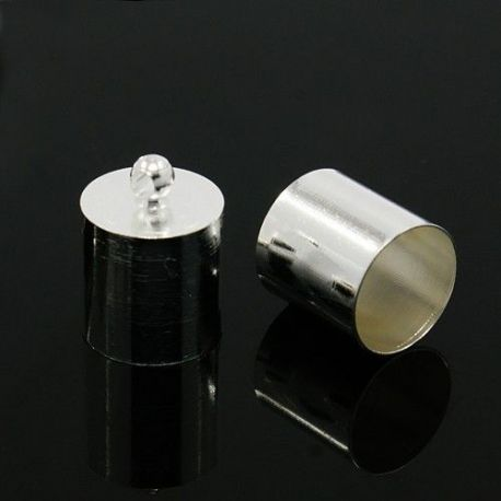 Užbaigimo detalė, sidabro spalvos, 12x8 mm, 1 vnt.