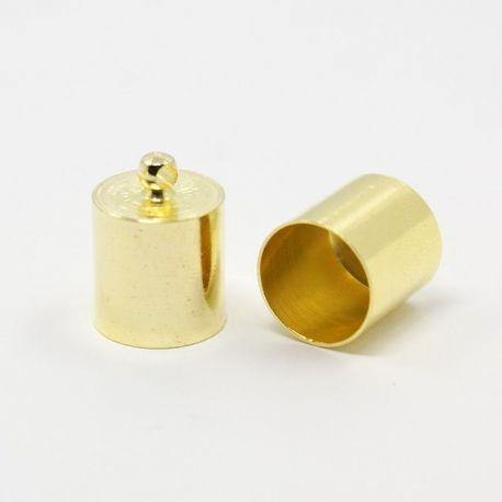 Užbaigimo detalė skirta vėriniams, apyrankėms, papuošalams, aukso spalvos, 14x10 mm, 1 vnt.