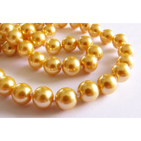 SHELL pearls for gold necklace, round bracelet 8mm