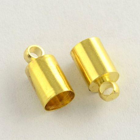 Užbaigimo detalė skirta vėriniams, apyrankėms, papuošalams, aukso spalvos, 10x5 mm, 10 vnt.