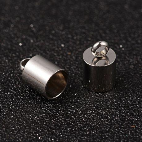 Nerūdijančio plieno užbaigimo detalė, dydis 11x7 mm, 1 vnt.
