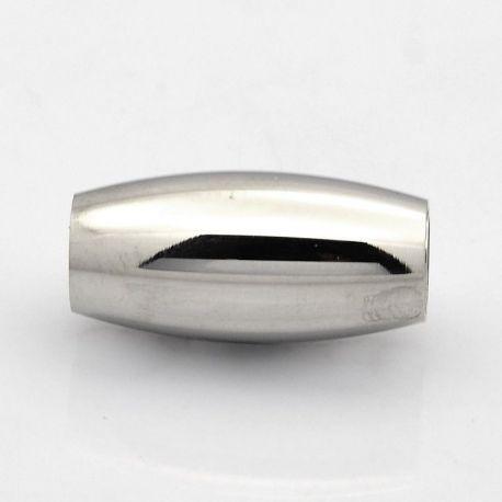Magnetinis užsegimas skirts vėriniams, apyrankėms, papuošalams, nikelio spalvos, 21x10 mm, 1 vnt.