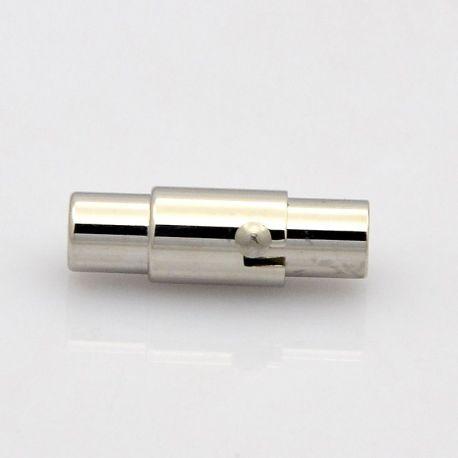 Magnetinis užsegimas skirts vėriniams, apyrankėms, papuošalams, nikelio spalvos, 18x8 mm, 1 vnt.