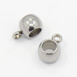Nerūdijančio plieno pakabuko laikiklis 6x5 mm, 1 vnt.