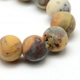 Agato karoliukų gija 10 mm