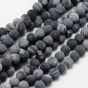 Agato karoliukų gija 8 mm