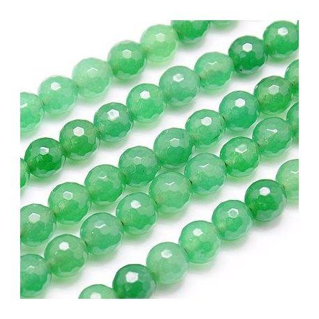 Avantiurino karoliukų gija, žalio spalvos, apvalios formos 10 mm