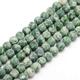 """Green spot"" akmens karoliukų gija 8 mm"