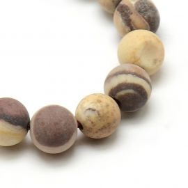 Jaspio karoliukų gija 6 mm