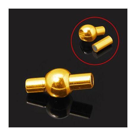 Magnetinis užsegimas skirtas vėriniams, apyrankėms, papuošalams, aukso spalvos, 16x8 mm, 1 vnt.