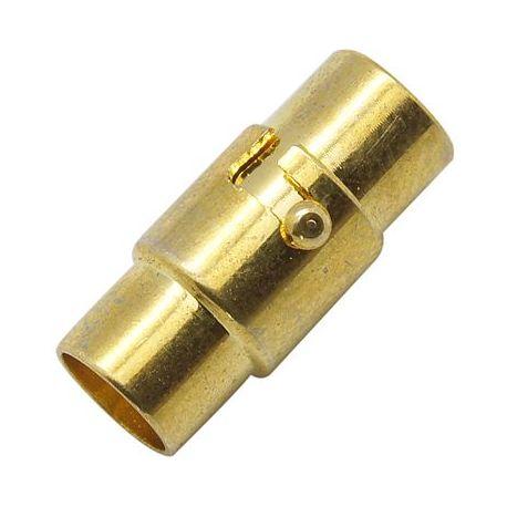 Magnetinis užsegimas skirtas vėriniams, apyrankėms, papuošalams, sidabro spalvos, 17x7 mm, 1 vnt.