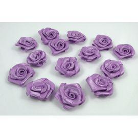 Satininė dekoratyvinė rožytė 15 mm, 1 vnt.