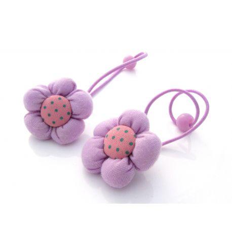 """Dekoratyvinė gumutė plaukams """"Gėlytė"""" violetinės spalvos, 1 vnt."""
