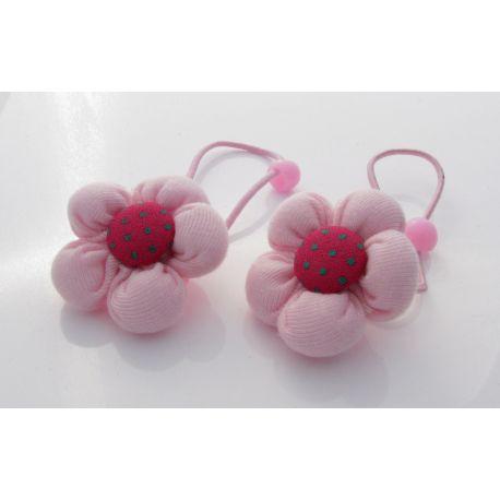 """Dekoratyvinė gumutė plaukams """"Gėlytė"""" šviesiai rožinės spalvos, 1 vnt."""