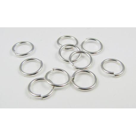 Atviras žiedelis skirtas papuošalų gamybai sidabro spalvos 8 mm