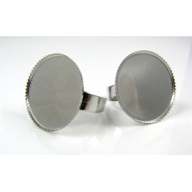 Žiedo pagrindas kabošonui / kamėjai 25 mm, 1 vnt.