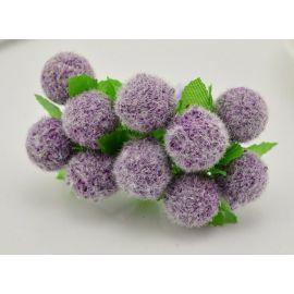 Dekoratyvinė gėlytė - burbuliukas 20 mm, violetinės spalvos 10 vnt.