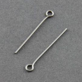 Nerūdijančio plieno smeigtukai 40x0.7 mm, ~100 vnt. (13,40 g.)