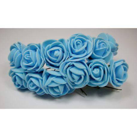Dekoratyvinė gėlytė 20 mm, žydros spalvos 12 vnt.