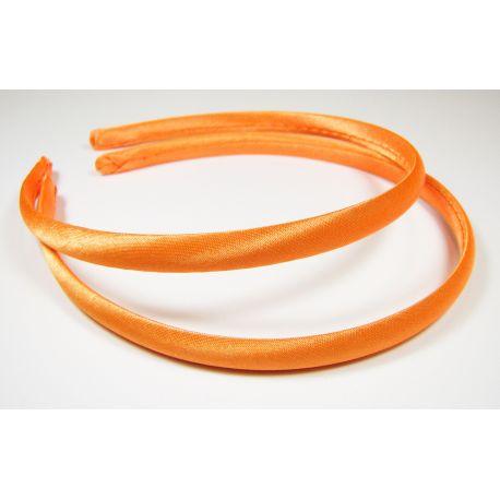 Lankelis plaukams, su satinu, oranžinės spalvos 1 vnt.