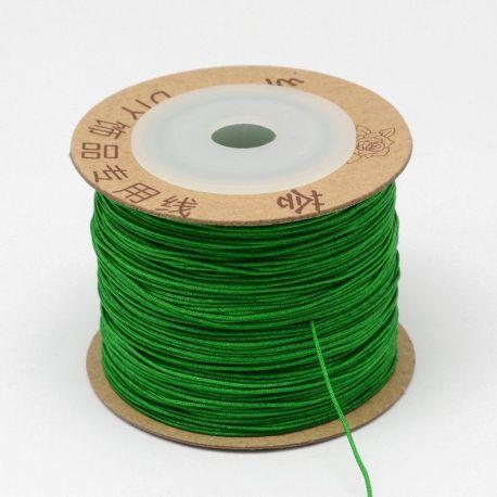 Nailoninis siūlas virvutė, blizgios ryškiai žalios spalvos 0.80 mm 5 m
