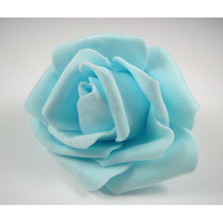 Dekoratyvinė gėlytė - rožė 6-7mm, žydros spalvos 1 vnt.