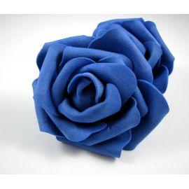 Dekoratyvinė gėlytė rankdarbiams - rožė 6-7mm, mėlynos spalvos 1 vnt.