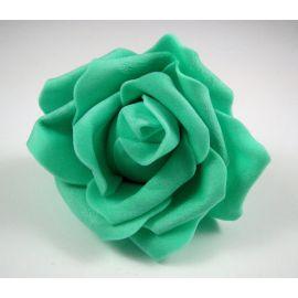 Dekoratyvinė gėlytė - rožė 6-7mm, žalios spalvos 1 vnt.