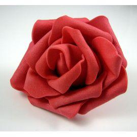 Dekoratyvinė gėlytė - rožė 6-7mm, raudonos spalvos 1 vnt.