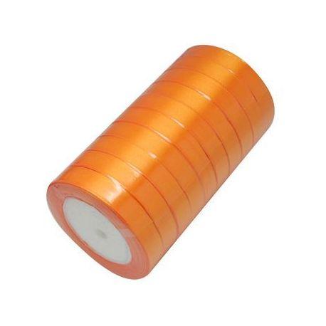Satino juostelė, oranžinės spalvos, 16 mm pločio, 22 metrai