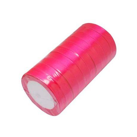 Satino juostelė, ryškios rožinės spalvos, 16 mm pločio, 22 metrai