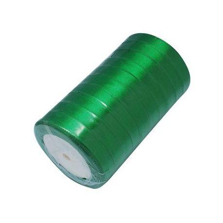 Satino juostelė, žalios spalvos, 16 mm pločio, 22 metrai